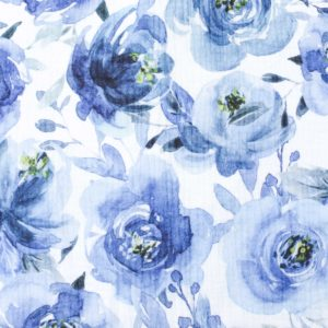 XXL Tuch Musselin (Watercolor Florals blau)