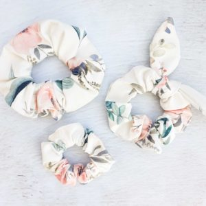 Scrunchies (Pastel Flowers)