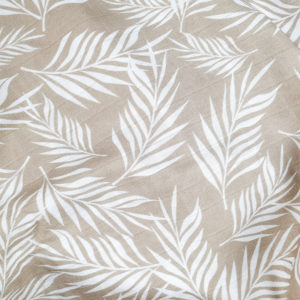 XXL Tuch Bio-Musselin (Palm Leaves beige)