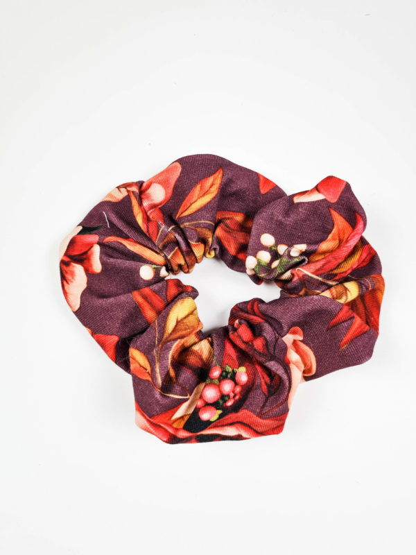 Scrunchies (Herbstblumen bordeaux)